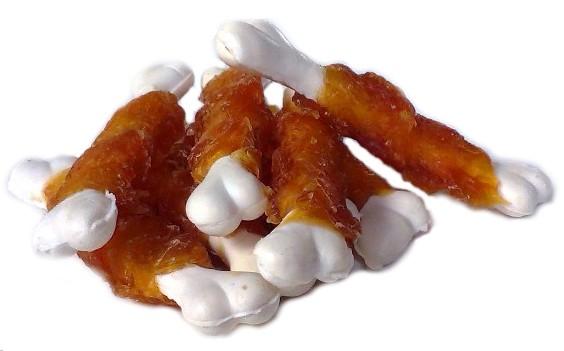 Kostička kalciová obalená kachním masem