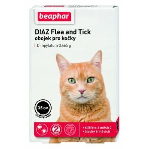 Beaphar Diaz 35 cm - antiparazitní obojek pro kočky