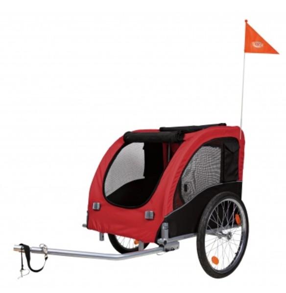 Vozík za kolo - červeno/černý